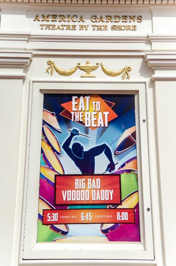 Sign for Big Bad Voodoo Daddy at the Eat to the Beat Concert Series