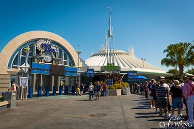 The area around Space Mountain in the morning