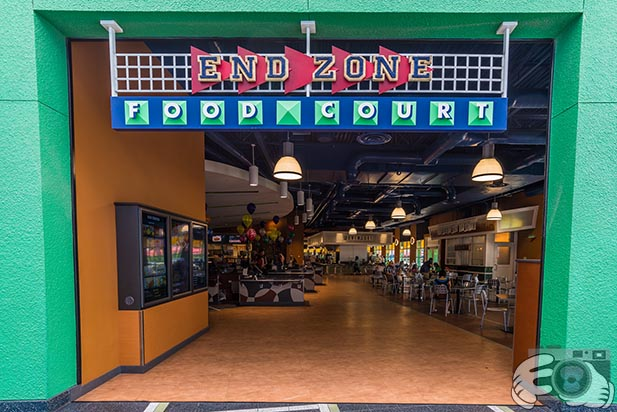 The entrance to the End Zone Food Court