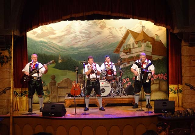 The Oktoberfest Musikaten band at Biergarten
