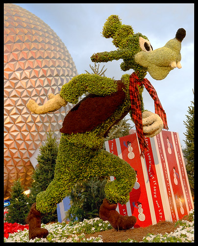 Goofy is one of EPCOT Christmas Decorations
