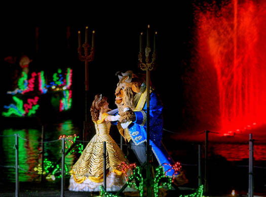 Beauty and the Beast in Fantasmic. Will it be shown in January of 2012?