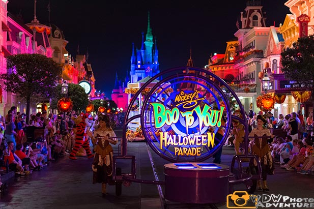 The start of the Boo to You parade at Mickey's Not So Scary Halloween Party