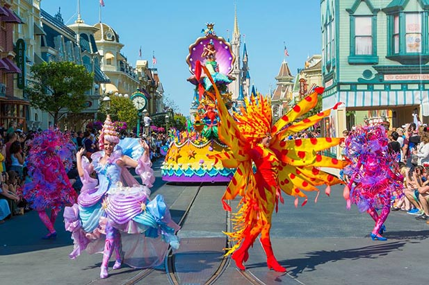 The colors of the Festival of Fantasy Parade