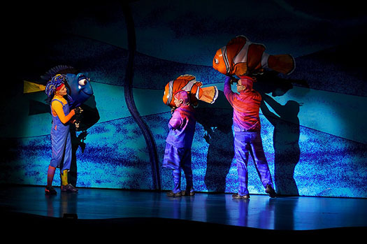 Nemo and Friends in the Finding Nemo the Musical show