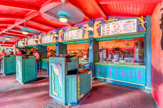 The order counter at Flame Tree BBQ