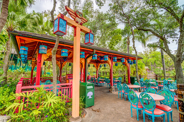 The seating area of Flame Tree BBQ