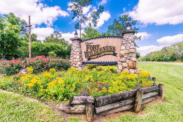 The entrance to Disney's Fort Wilderness Resort and Campground