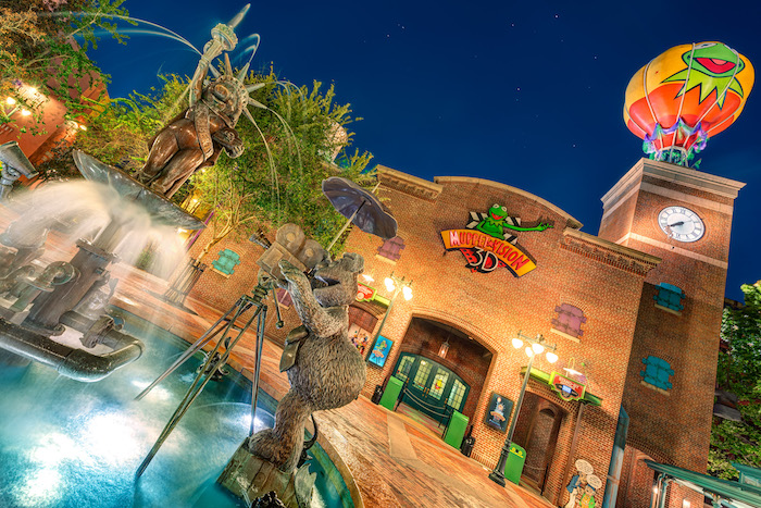 Muppet Vision 3D and the Miss Piggy Fountain from Disney's Hollywood Studios