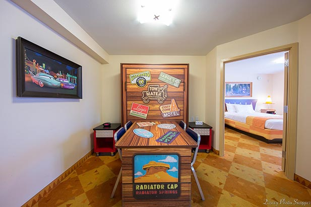 Inside the Cars Suite at the Art of Animation