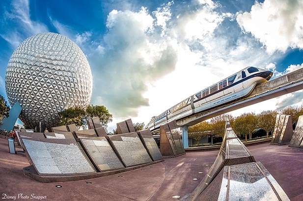 Next come Spaceship Earth and Epcot