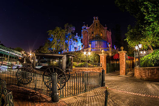 The outside of the Haunted Mansion