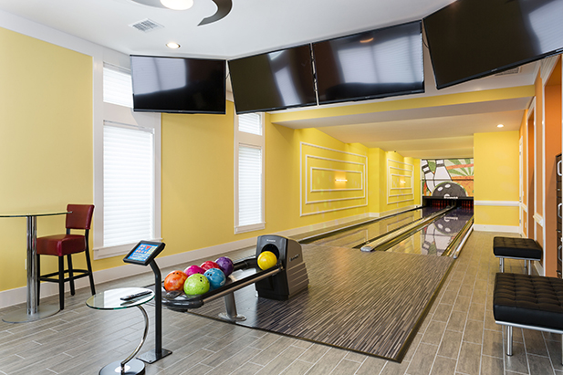Even a bowling alley is available in homes near Disney World