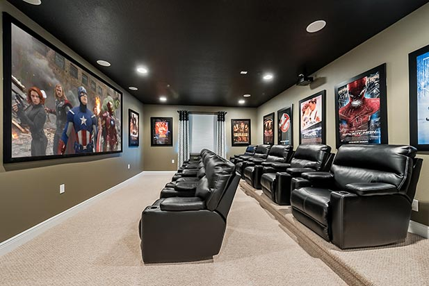 The Theater room in a Vacation Home near WDW