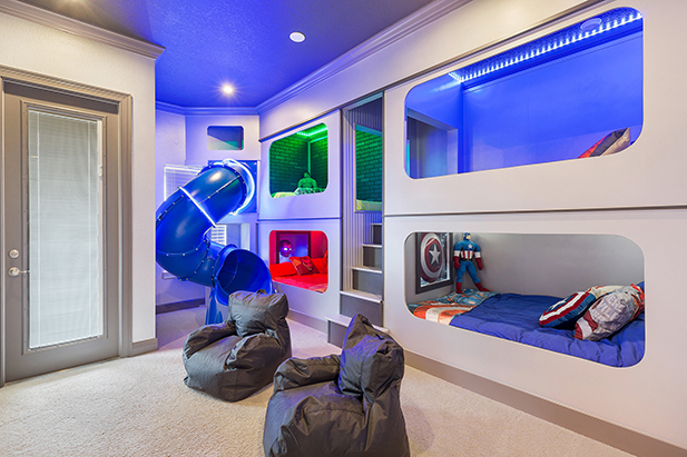 A Superhero room in one of the vacation homes near Disney World