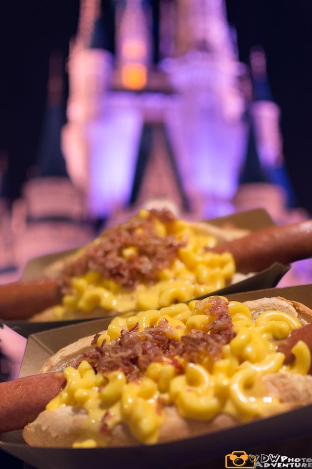 A couple of macaroni hot dogs from Casey's Corner