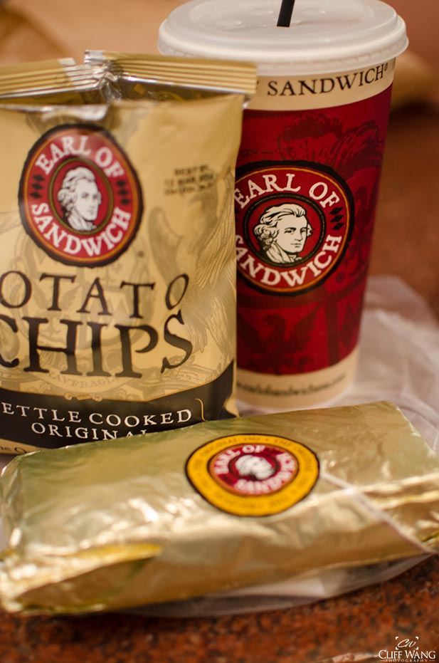 A quick service meal from the Earl of Sandwich