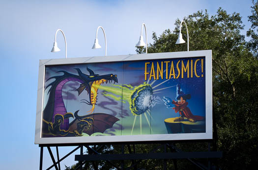 The Fantasmic! billboard at Walt Disney World