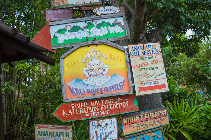 Kali River Rapids Sign