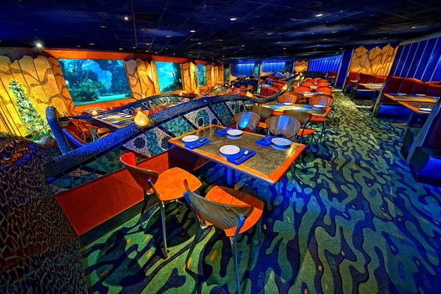 Your Key's to the World and your Disney Dining Plan will allow you to dine in the Coral Reef