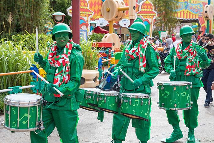The Green Army Men marching during Christmas