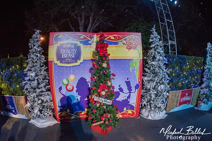 The Beauty and the Beast Christmas Tree in Disney Springs