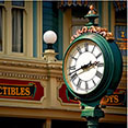 the clock on Main Street in the Magic Kingdom