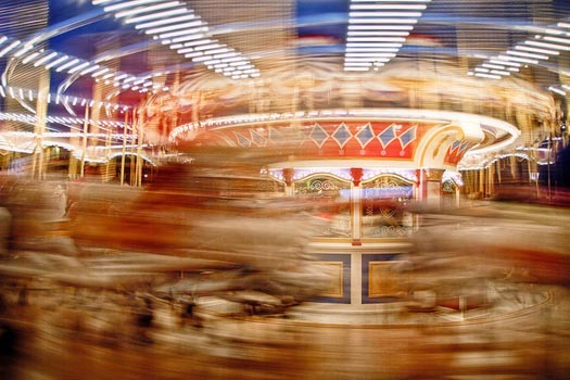 Prince Charming's Regal Carousel spinning