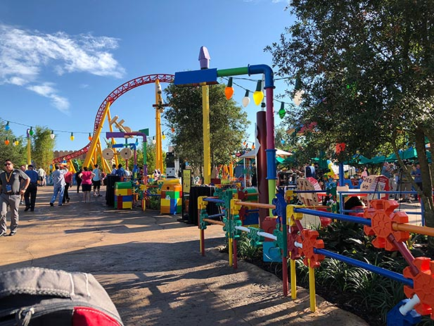 Walking through Toy Story Land with no crowds