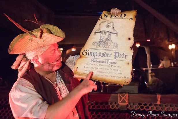 Gunpowder Pete shows up at Pirates of the Caribbean