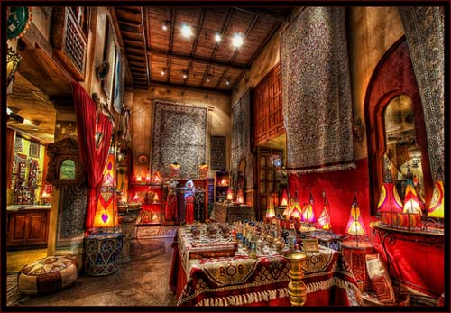 The Bazzar in the EPCOT Morocco pavilion