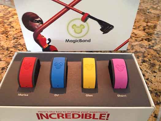MyMagicBands from the MyMagic+ program
