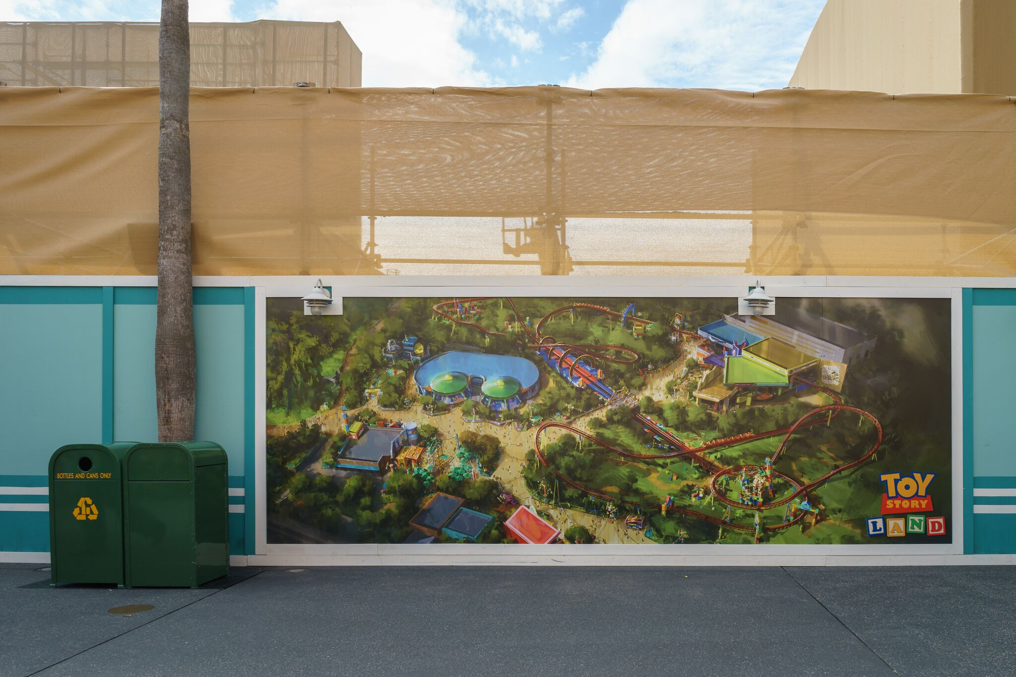 The Construction Wall at the new Toy Story Land area