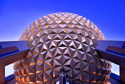 Spaceship Earth at EPCOT in October is a great place to be