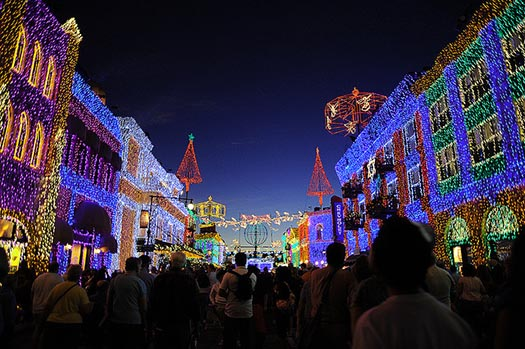 The main street of the Osborne Family Spectacle of Lights