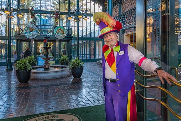 The doorman at the Port Orleans Riverside