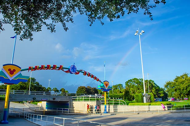 The bridge from the Magic Kingdom Parking lot to the Transportation and Ticket Center