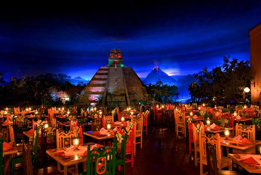 You can eat at the San Angel Inn when you purchase the Candlelight Processional Dinner package