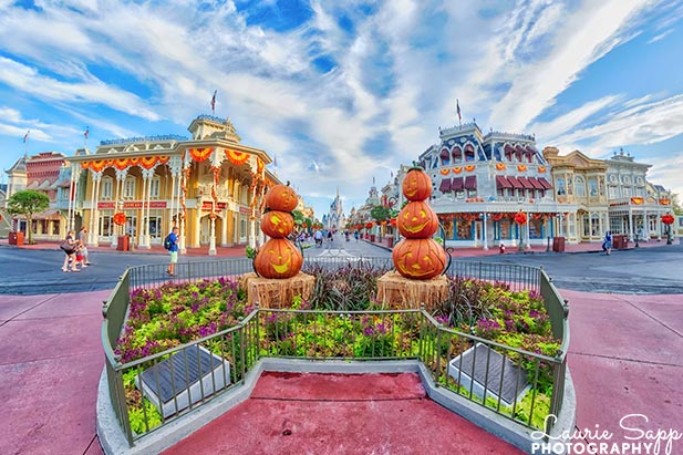 In September you'll get to see the Halloween decorations in the Magic Kingdom
