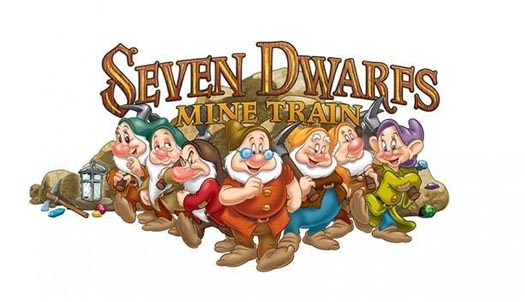 The logo for the Seven Dwarfs Mine Train