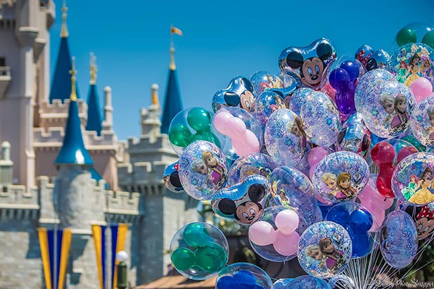 Balloons in the Magic Kingdom are part of the Simple, Fun, Magic of Walt Disney World