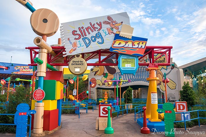 There's really not any place to line jump at Slinky Dog Dash