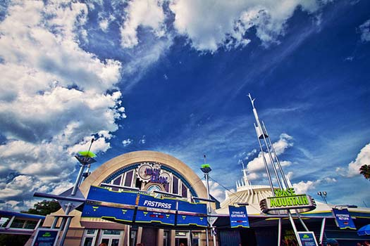 The exit to Space Mountain
