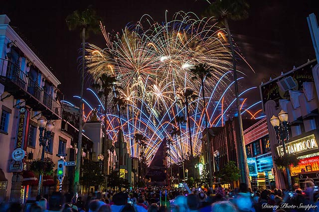 Fireworks from Star Wars Weekends in May