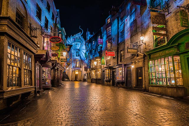 The new Harry Potter area of Universal Orlando