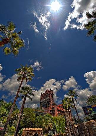 Hot temperatures at Walt Disney World's Tower of Terror