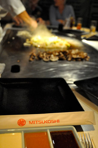 Chef Cooking at Teppan Edo