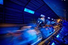 The launch sequence at Space Mountain in Tomorrowland