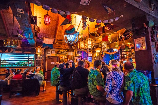 The bar at Trader Sam's Grog Grotto