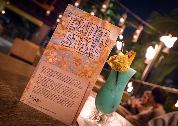 A cool green drink at Trader Sam's